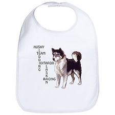 Husky dog Crossword Bib