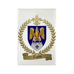 LEGROS Family Crest Rectangle Magnet (10 pack)