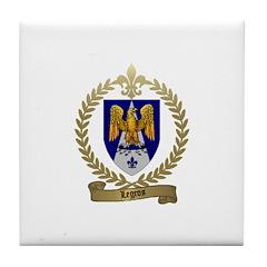 LEGROS Family Crest Tile Coaster