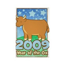 2009 Kids Year of Ox Rectangle Magnet (100 pack)