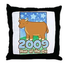 2009 Kids Year of Ox Throw Pillow