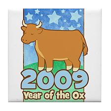 2009 Kids Year of Ox Tile Coaster