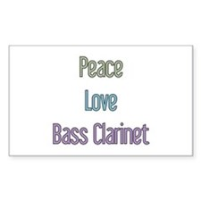 Bass Clarinet Gift Rectangle Decal