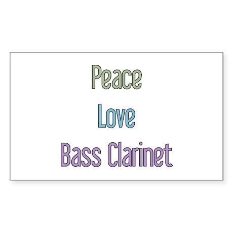 Bass Clarinet Gift Rectangle Sticker
