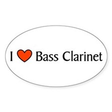 Bass Clarinet Gift Oval Decal