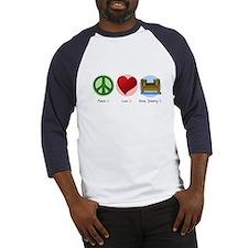 Peace Love Dock Jumping Baseball Jersey