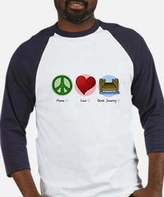 Peace Love Dock Jumping Baseball Jersey