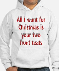 Christmas two front teats Hoodie