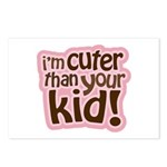 I'm Cuter Than Your Kid Postcards (Package of 8)