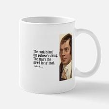 """Burns """"Rank Is But"""" Mug"""