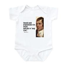 """Burns """"Auld Lang Syne"""" Infant Bodysuit"""