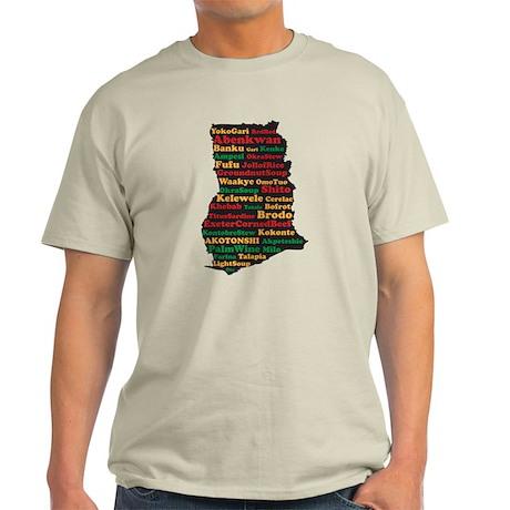 I Love Ghanaian Food Light T-Shirt