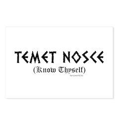 Temet Nosce Postcards (Package of 8)