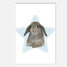 Baby bunny (blue) Postcards (Package of 8)