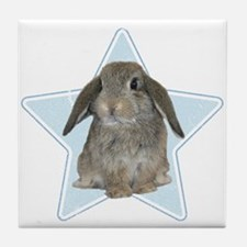 Baby bunny (blue) Tile Coaster