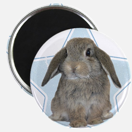 Baby bunny (blue) Magnet