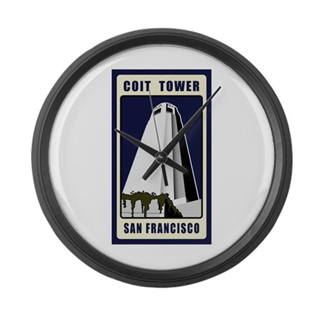 Coit Tower Large Wall Clock