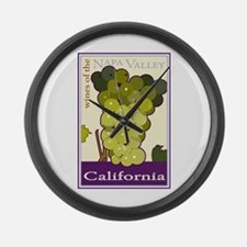 Wines of the Napa Valley, Cal Large Wall Clock