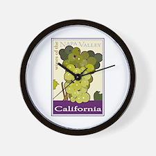 Wines of the Napa Valley, Cal Wall Clock