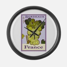 Wines of Bordeaux, France Large Wall Clock