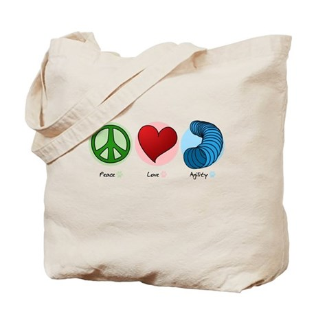 Peace Love Agility Tote Bag