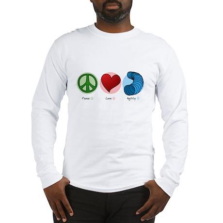 Peace Love Agility Long Sleeve T-Shirt