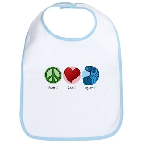 Peace Love Agility Bib