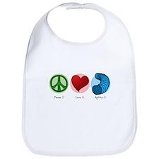 Peace Love Agility Bib