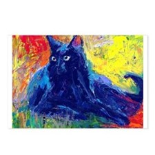 Black Cat 6 Postcards (Package of 8)