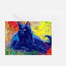 Black Cat 6 Greeting Card