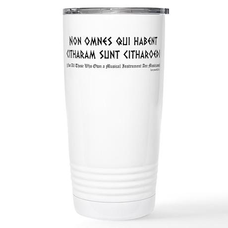 Non omnes Stainless Steel Travel Mug