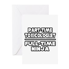 """Toxicologist..Ninja"" Greeting Cards (Pk of 20)"