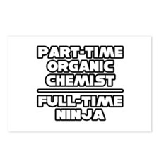 """Organic Chemist..Ninja"" Postcards (Package of 8)"