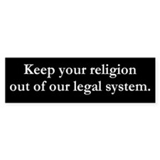 Religion Bumper Bumper Sticker