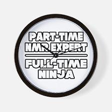 """NMR Expert..Ninja"" Wall Clock"