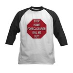 Stop Home Foreclosures! Kids Baseball Jersey