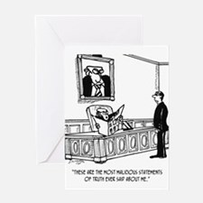 Politician Cartoon 3312 Greeting Card