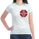 Stop Home Foreclosures! Jr. Ringer T-Shirt