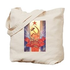 Red Star Hammer & Sickle USSR Tote Bag