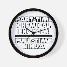 """Chemical Engineer..Ninja"" Wall Clock"