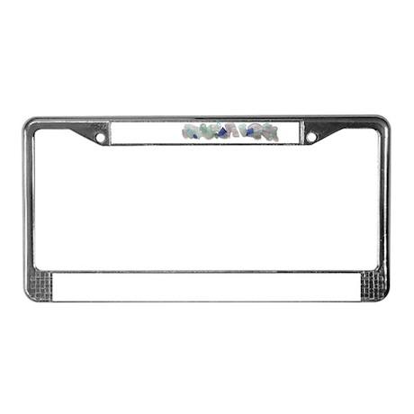 Beach Glass License Plate Frame