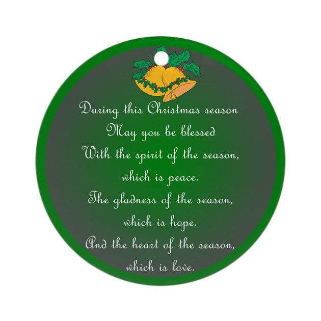 An Irish Christmas Blessing Ornament Round By