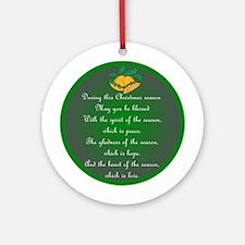 An Irish Christmas Blessing Ornament (Round)