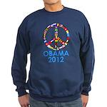 Re Elect Obama in 2012 Sweatshirt (dark)