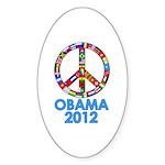 Re Elect Obama in 2012 Oval Sticker
