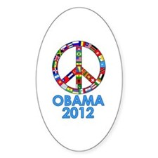 Re Elect Obama in 2012 Oval Stickers