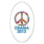 Re Elect Obama in 2012 Oval Sticker (10 pk)