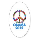 Re Elect Obama in 2012 Oval Sticker (50 pk)