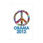 Re Elect Obama in 2012 Rectangle Sticker 10 pk)