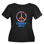Re Elect Obama in 2012 Women's Plus Size Scoop Nec